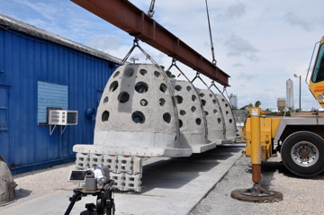 The answer to breakwaters and sand accretion starts with the Smart Reef, 4 Galioth Balls attached with an articulating mat deployed as a unit.
