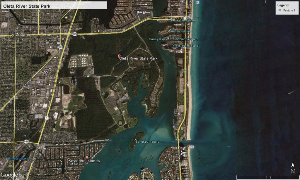 Oleta River State Park map